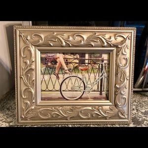 Other - Beautiful Ornate Brushed Silver Picture Frame